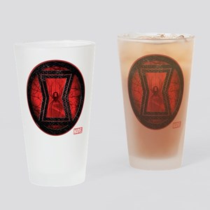 Black Widow Grunge Icon Drinking Glass