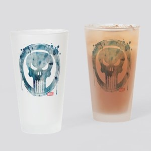 Punisher Grunge Icon Drinking Glass