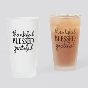 thankful BLESSED grateful Drinking Glass
