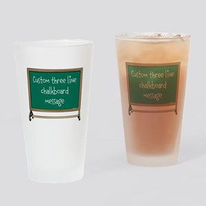 Custom Three Line Chalk Board Message Design Drink