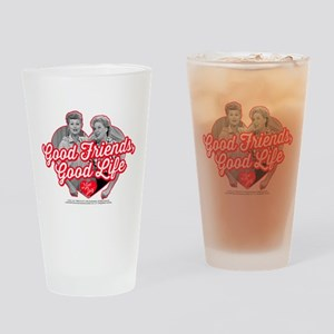 Lucy and Ethel:Good Friends Good Li Drinking Glass