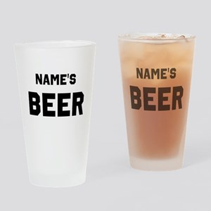 Name Beer Drinking Glass