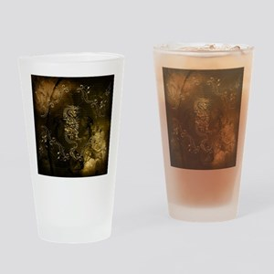 Wonderful golden chinese dragon Drinking Glass