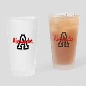 Personalized Monogrammed Drinking Glass