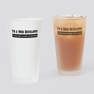 I am never wrong Drinking Glass