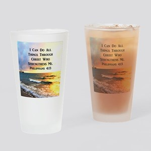 PHIL 4:13 VERSE Drinking Glass
