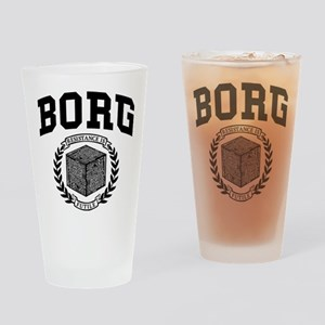 Star Trek Borg College Style Drinking Glass