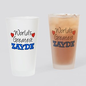 World's Greatest Zayde Drinkware Drinking Glass