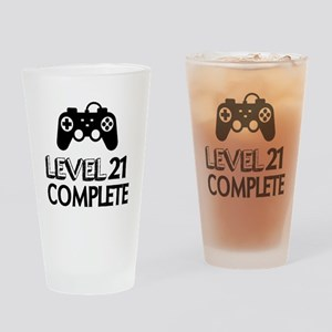 Level 21 Complete Birthday Designs Drinking Glass