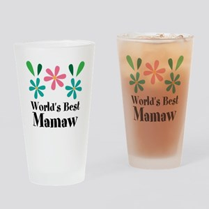 Worlds Best Mamaw Grandma Personalized Drinking Gl