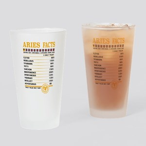 Aries Facts Drinking Glass