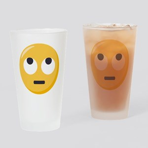 Face with rolling eyes Emoji Drinking Glass