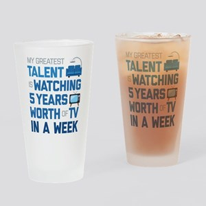 Greatest Talent Emoji Drinking Glass