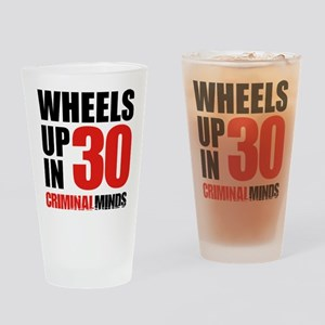 Wheels Up In 30 Drinking Glass