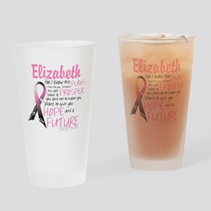 Breast Cancer Survivor Personalize Drinking Glass