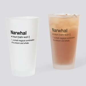 Narwhal definition Drinking Glass