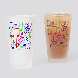 Note Rainbow Drinking Glass