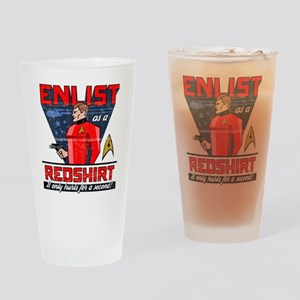"Star Trek ""Enlist As A Red Shirt"" Drinking Glass"