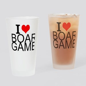 I Love Board Games Drinking Glass