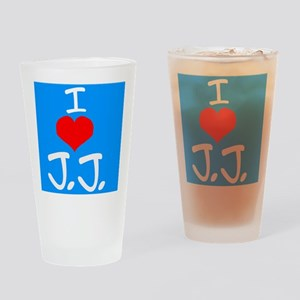 I heart J.J. Drinking Glass