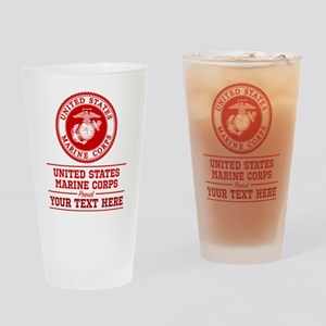 United States Marine Corp Proud Per Drinking Glass