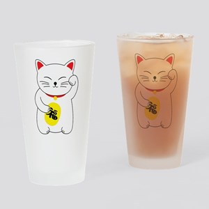 Maneki Neko Lucky Cat Drinking Glass