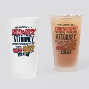 Redneck Attorney Drinking Glass