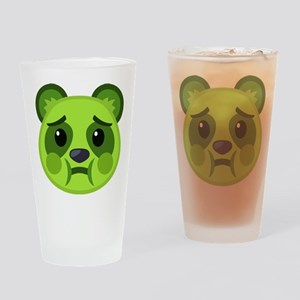 Sick Panda Emoji Drinking Glass
