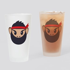 Emojione Monkey Ninja Drinking Glass