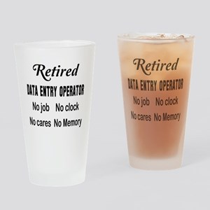 Retired Data entry operator Drinking Glass