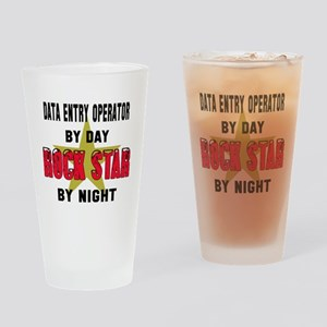 Data entry operator By Day, Rock St Drinking Glass