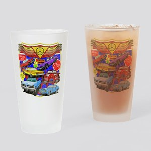 Classic Muscle Cars Drinking Glass