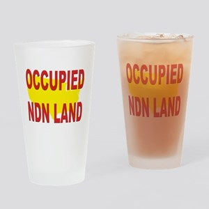 Occupied NDN Land Drinking Glass