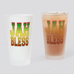 Jah Bless Drinking Glass