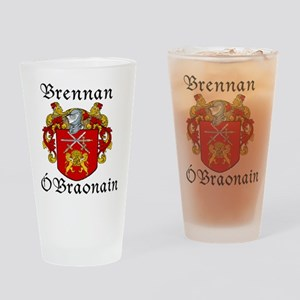 Brennan in Irish/English Drinking Glass