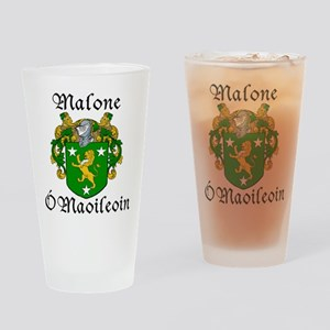 Malone In Irish & English Pint Glass