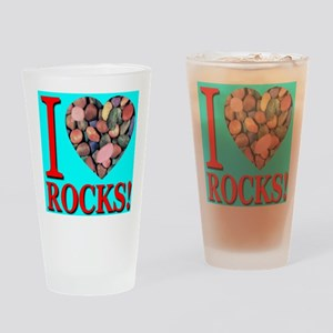I Love Rocks! Drinking Glass