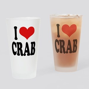I Love Crab Pint Glass