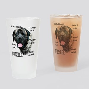 Mastiff(brindle)FAQ Drinking Glass