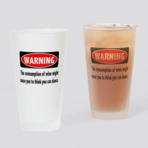Wine Warning Drinking Glass