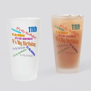 11th Birthday Drinking Glass
