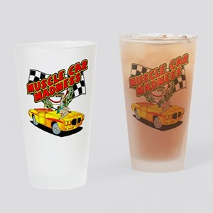 Muscle Car Madness Drinking Glass