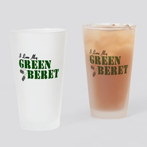 I Love My Green Beret Drinking Glass