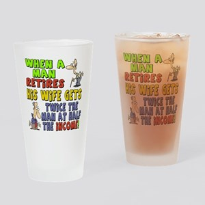 Retirement Income Drinking Glass