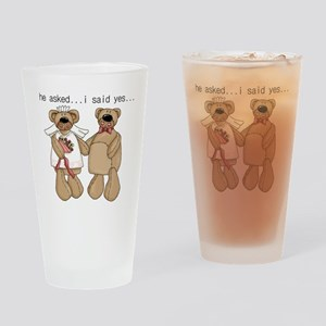 Bride and Groom Bear Pint Glass