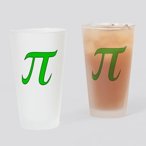 Green Pi Drinking Glass