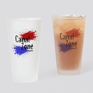 Stylized Panama Canal Zone Drinking Glass