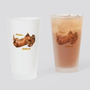 Bellyrub Doxie Drinking Glass