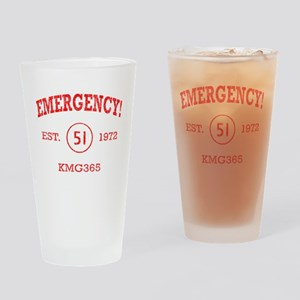 EMERGENCY! Squad 51 Vintage Drinking Glass