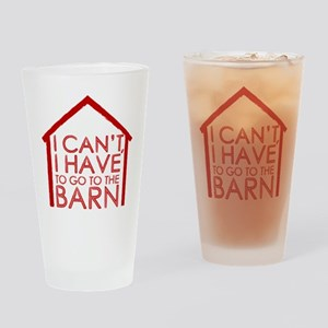 To The Barn Drinking Glass